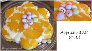 Raikas appelsiinilotta on pirteä pääsiäisen jälkiruoka ja kahvipöydän kuningatar.