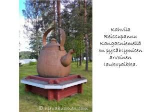 Kun näette tämän kahvipannun Kangasniemellä, niin kannattaa pysähtyä kahville!