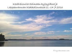 Kesäreissulla Saimaan kylpylässa ja Lappeenrannan hiekkalinnassa 11