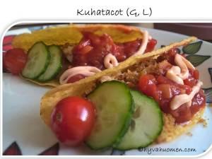Kuhaa intialaisittain maustetussa öljy-korppujauhoseoksessa, kasviksia, salsaa ja chilimajoneesia - yllättävän toimiva yhdistelmä!
